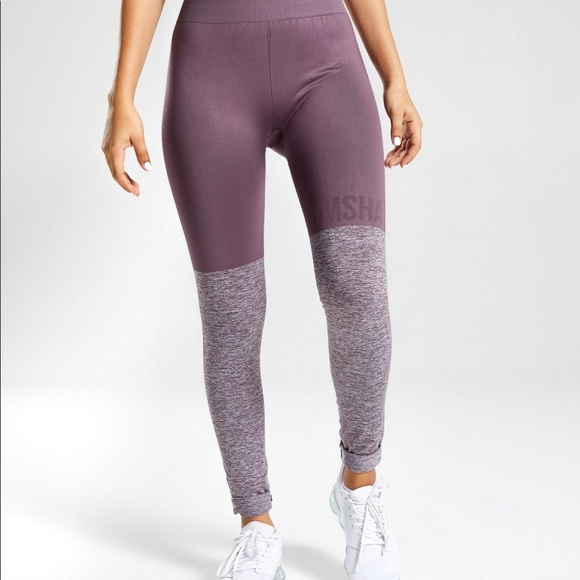 a7235a693c896 Gymshark Pants | Two Tone Seamless Leggings Purple Wash | Poshmark